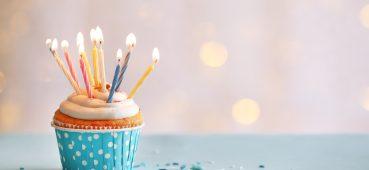 Birthday cupcake photo.