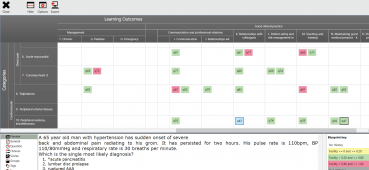 eSystem screen grab showing the exam blueprinting functionality.