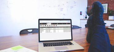 Photo showing laptop running eSystem exam software.