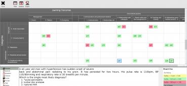 Screen shot of an exam blueprint